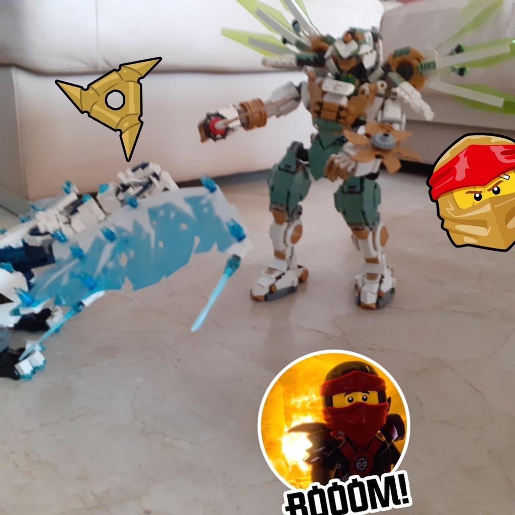 Dragon de hielo vs titan mech