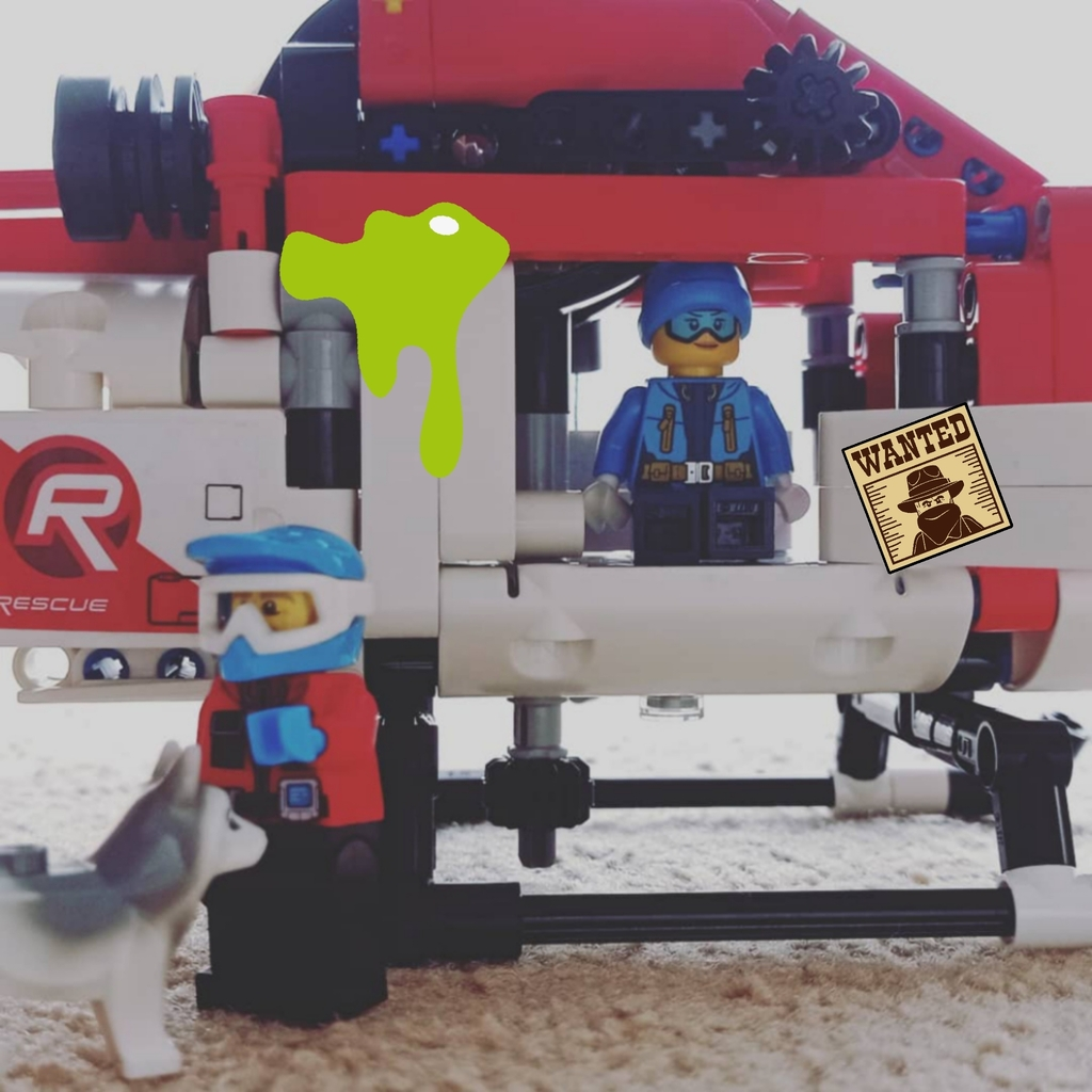 Helicóptero de rescate LEGO technic