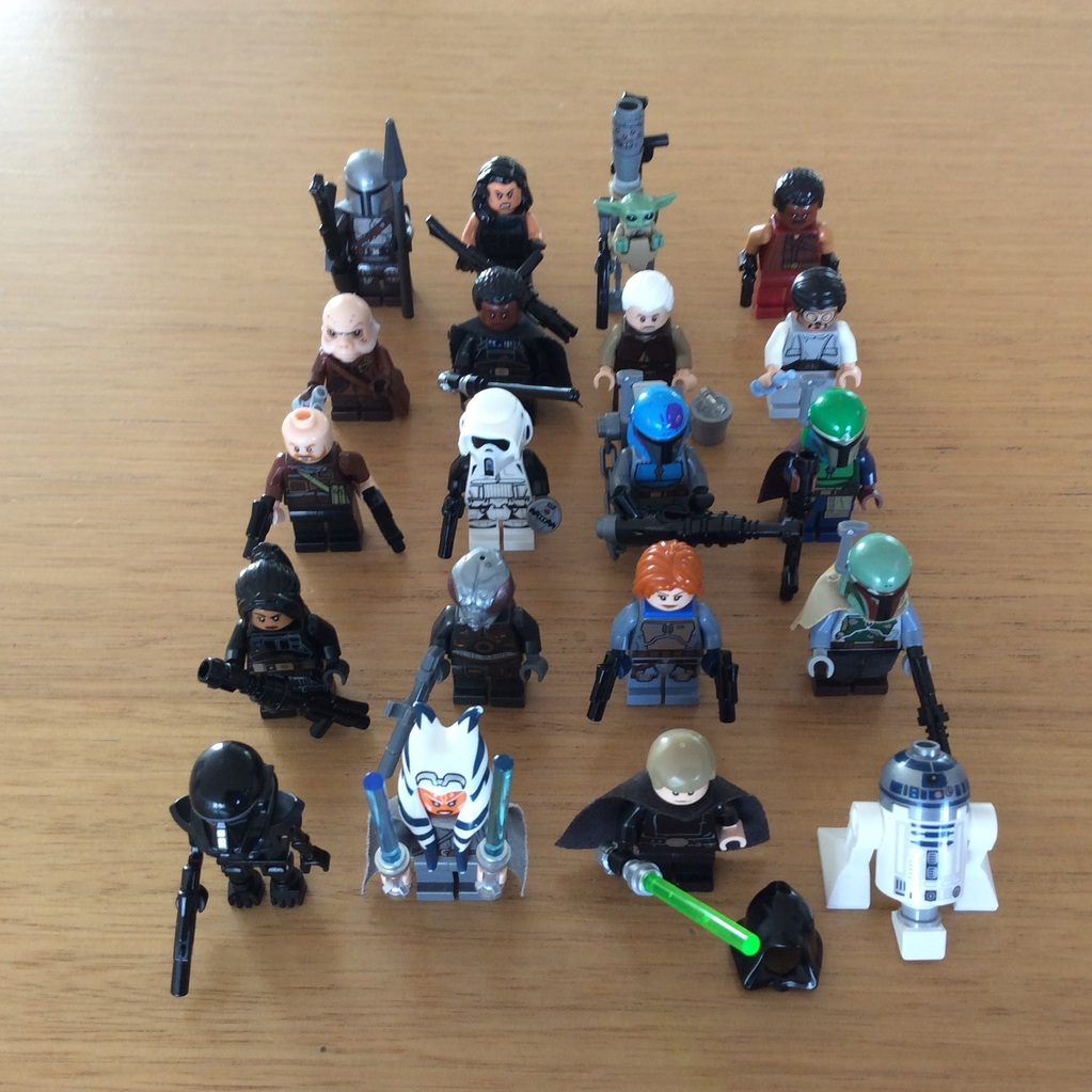 The Mandalorian minifigure series MOC