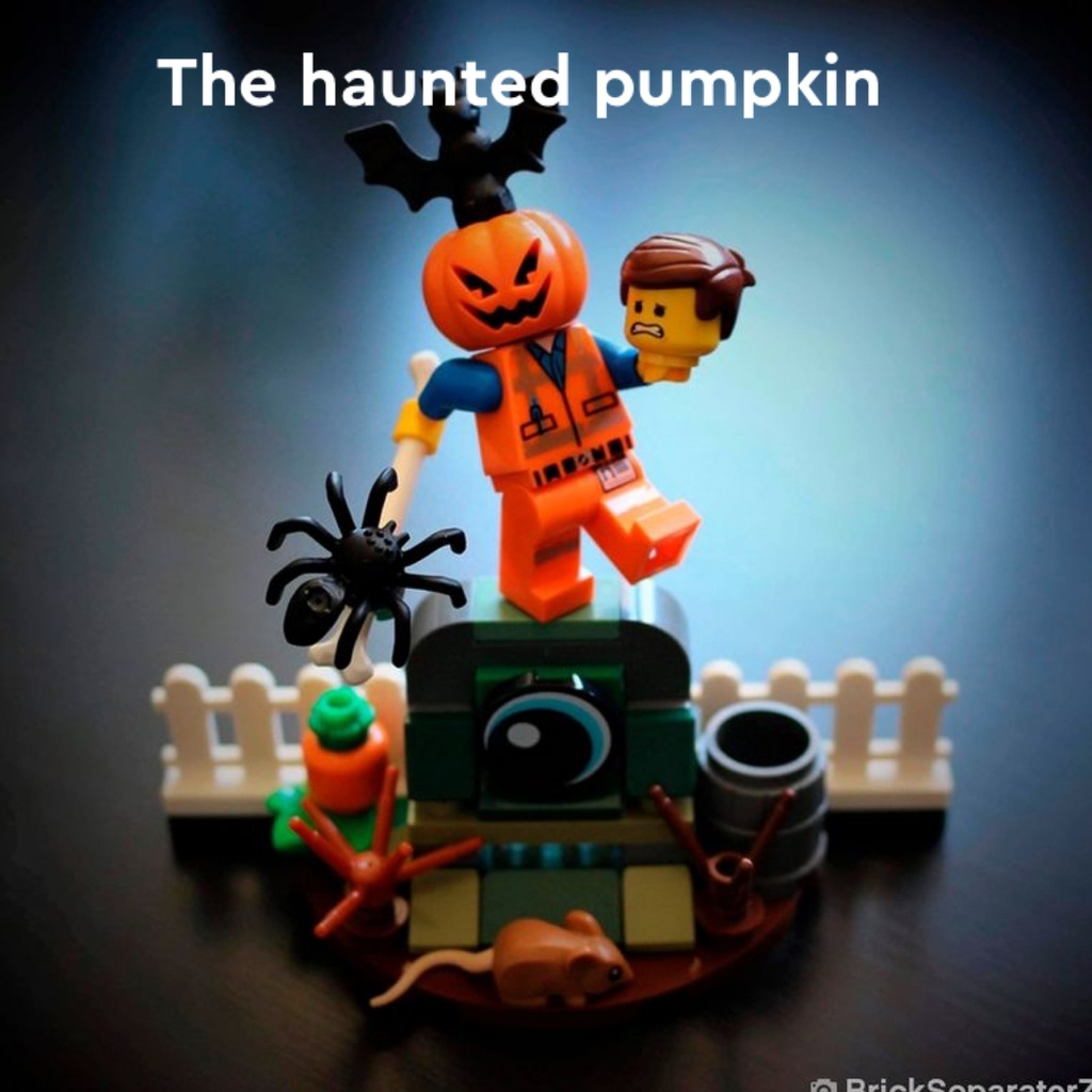A haunted pumpkin pic