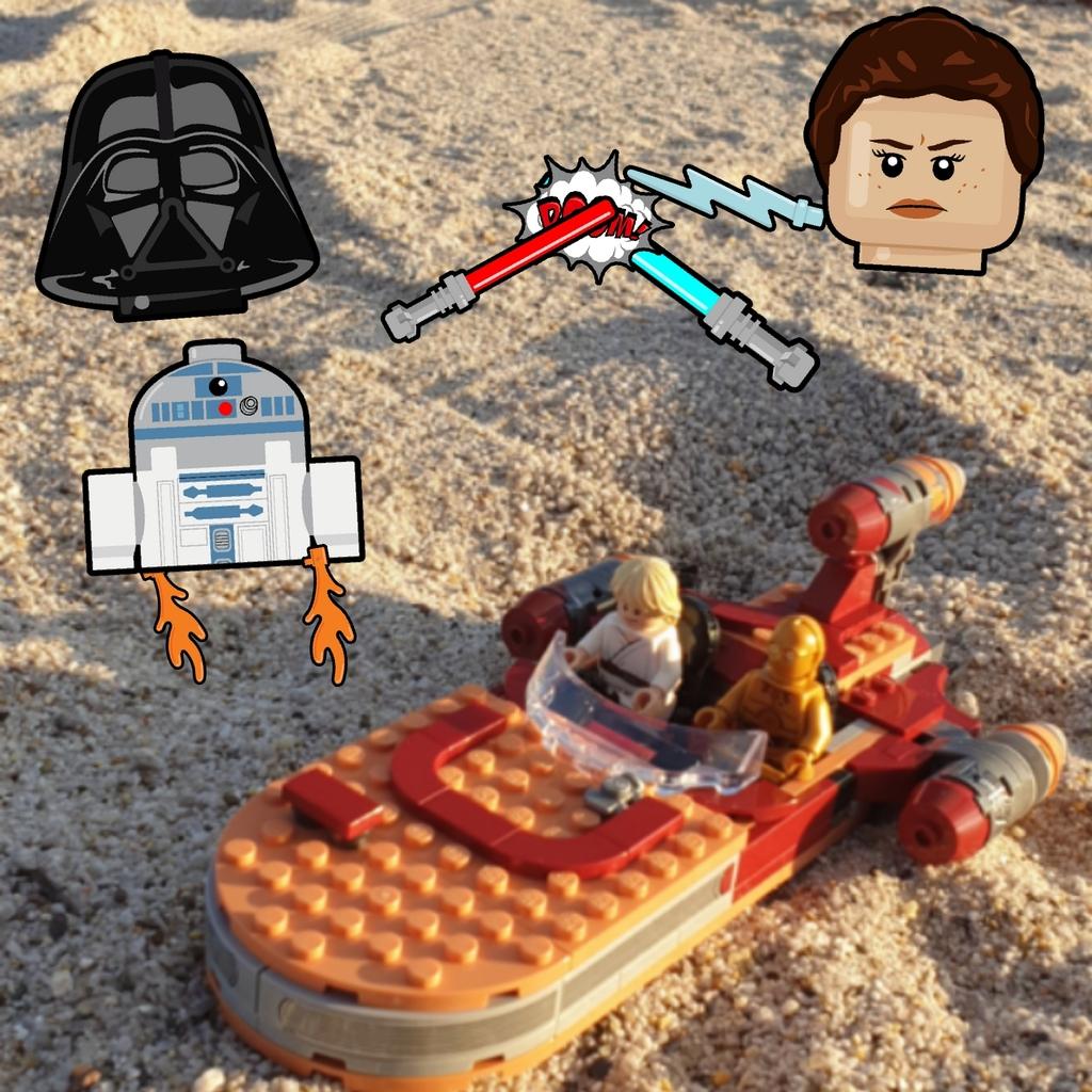 Luck Skywalker y C3PO