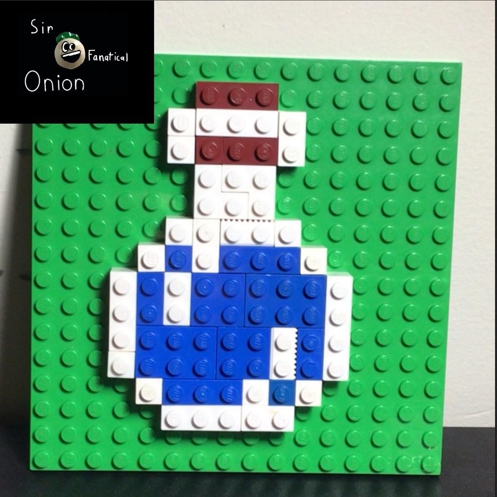 Minecraft item mosaic #1: water bottle