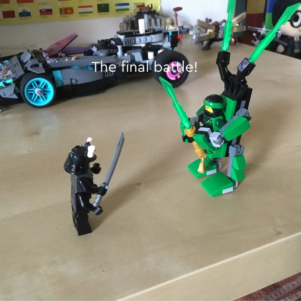 Lloyd vs garmadon