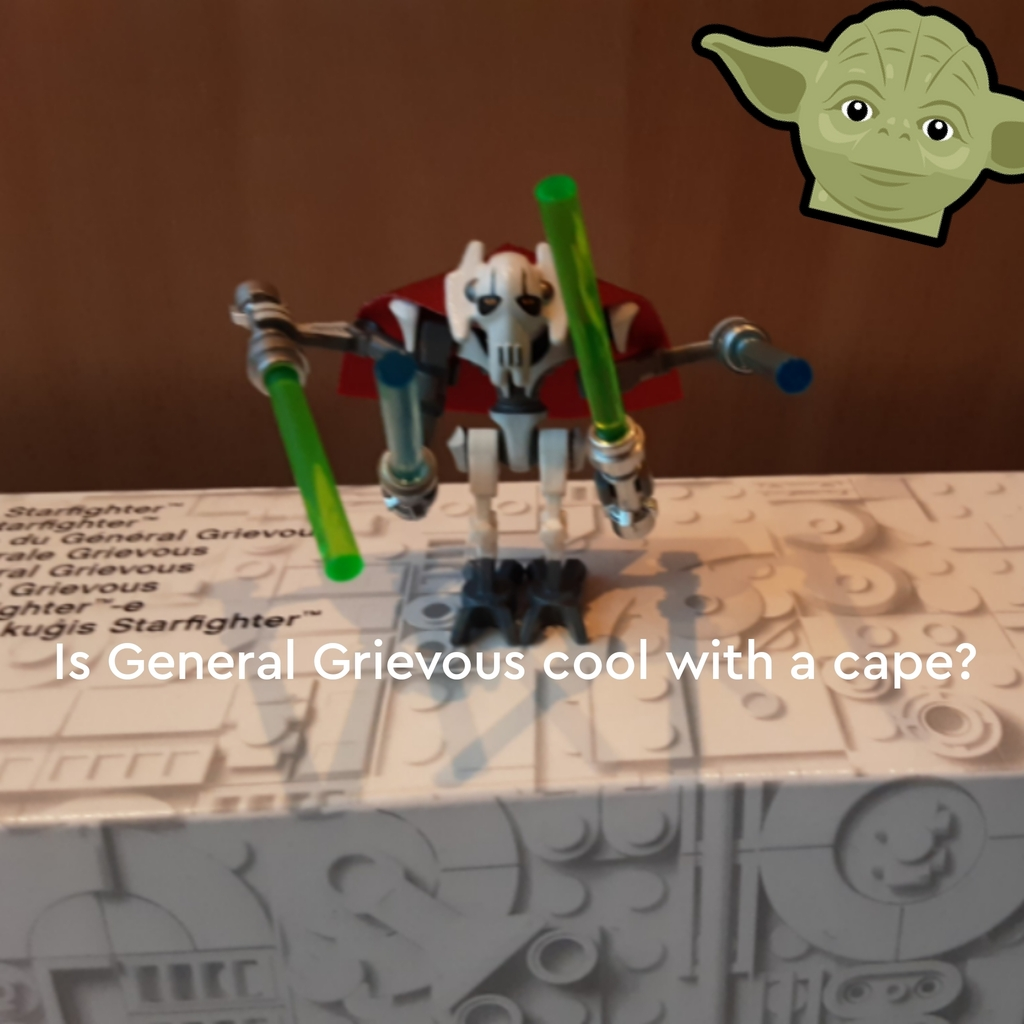 General Grievous with a cape.