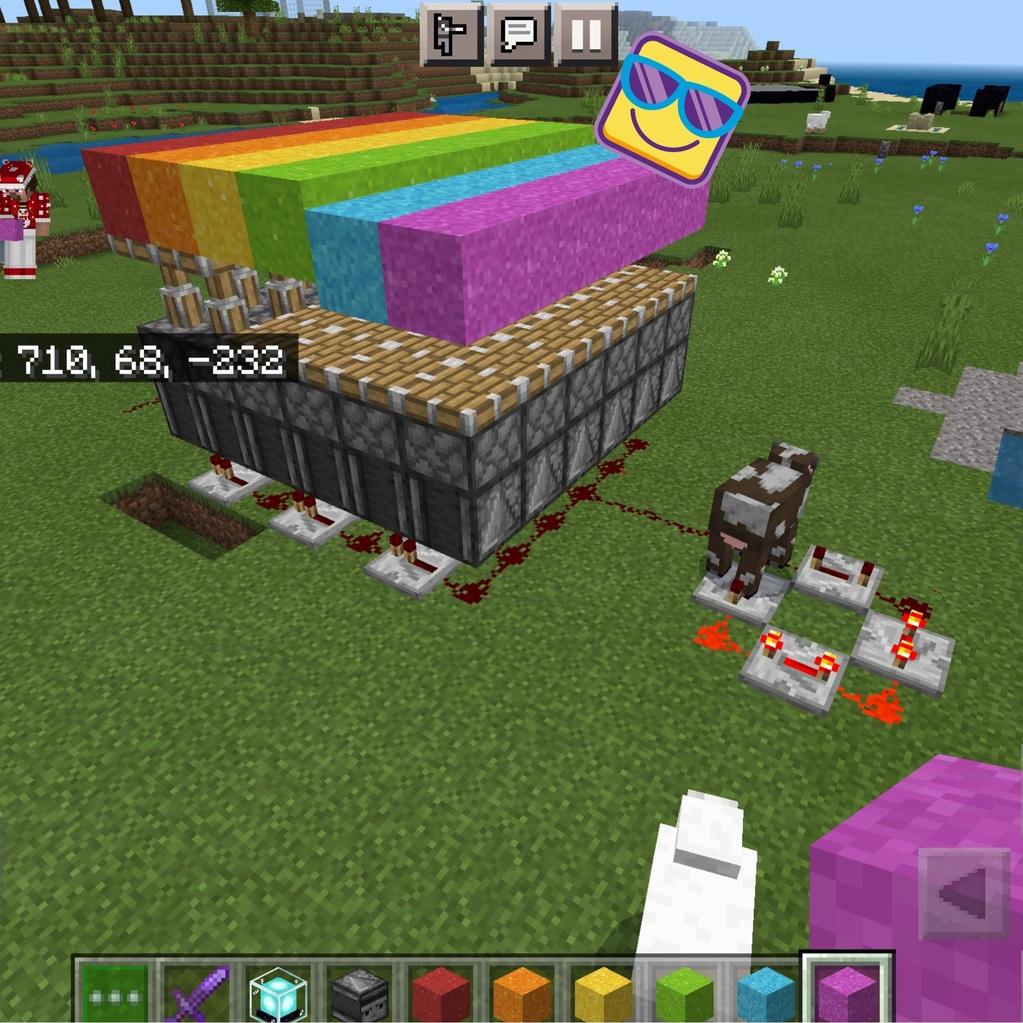 Minecraft rainbow wave machine