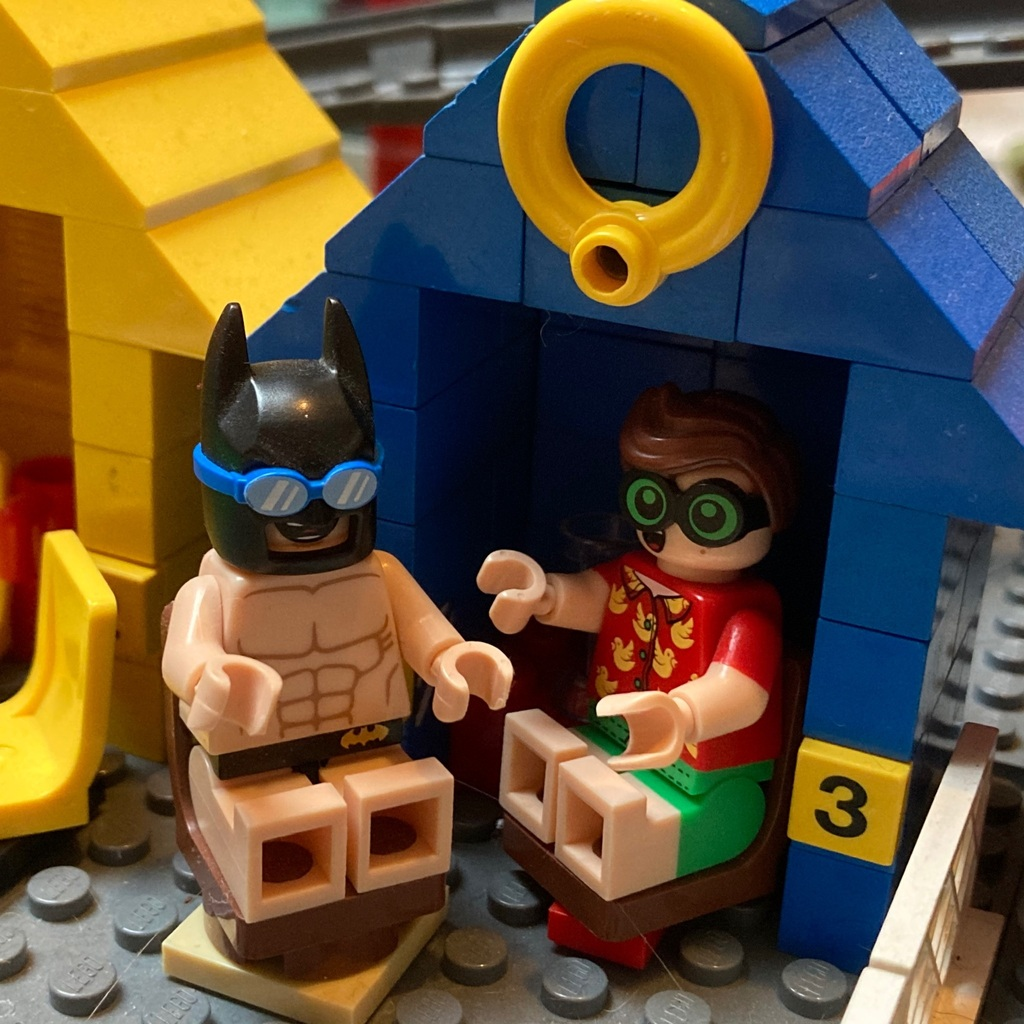 Batman and Robin on holiday