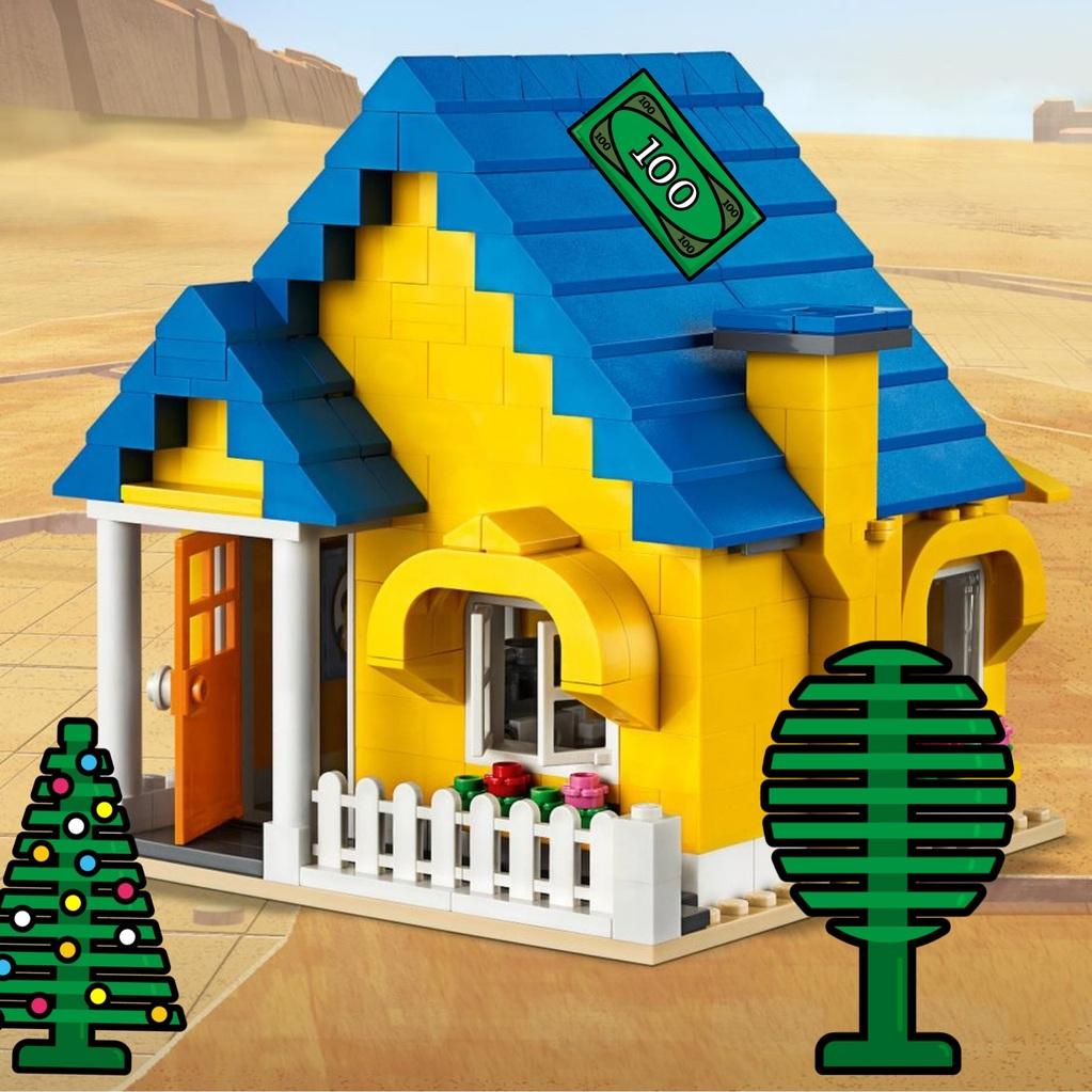 La casa de Emmet decorada