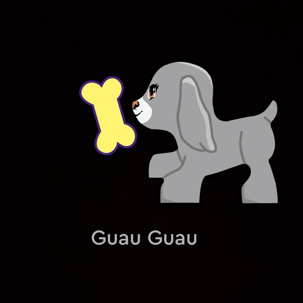 Un perrito cogiendo un hueso