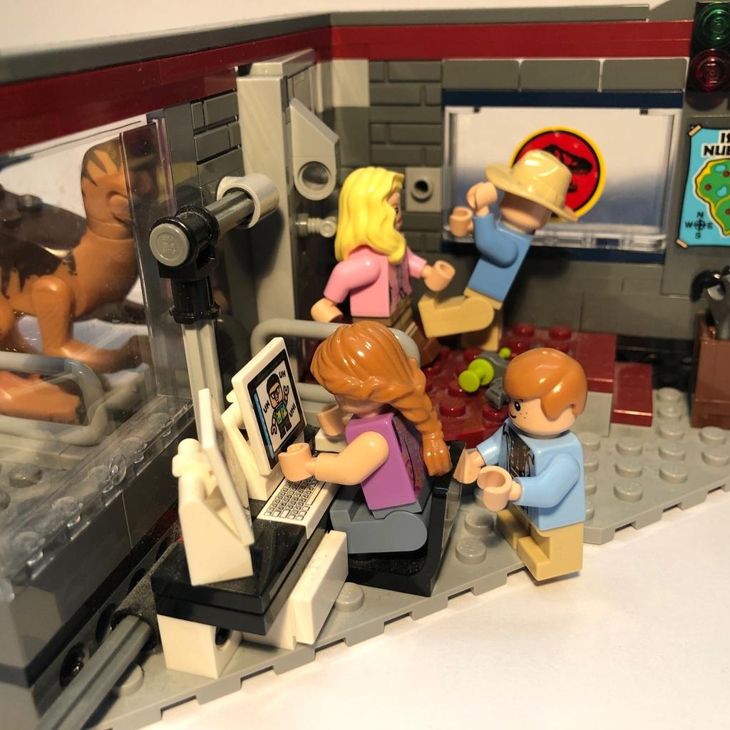 LEGO Jurassic Park Recreation