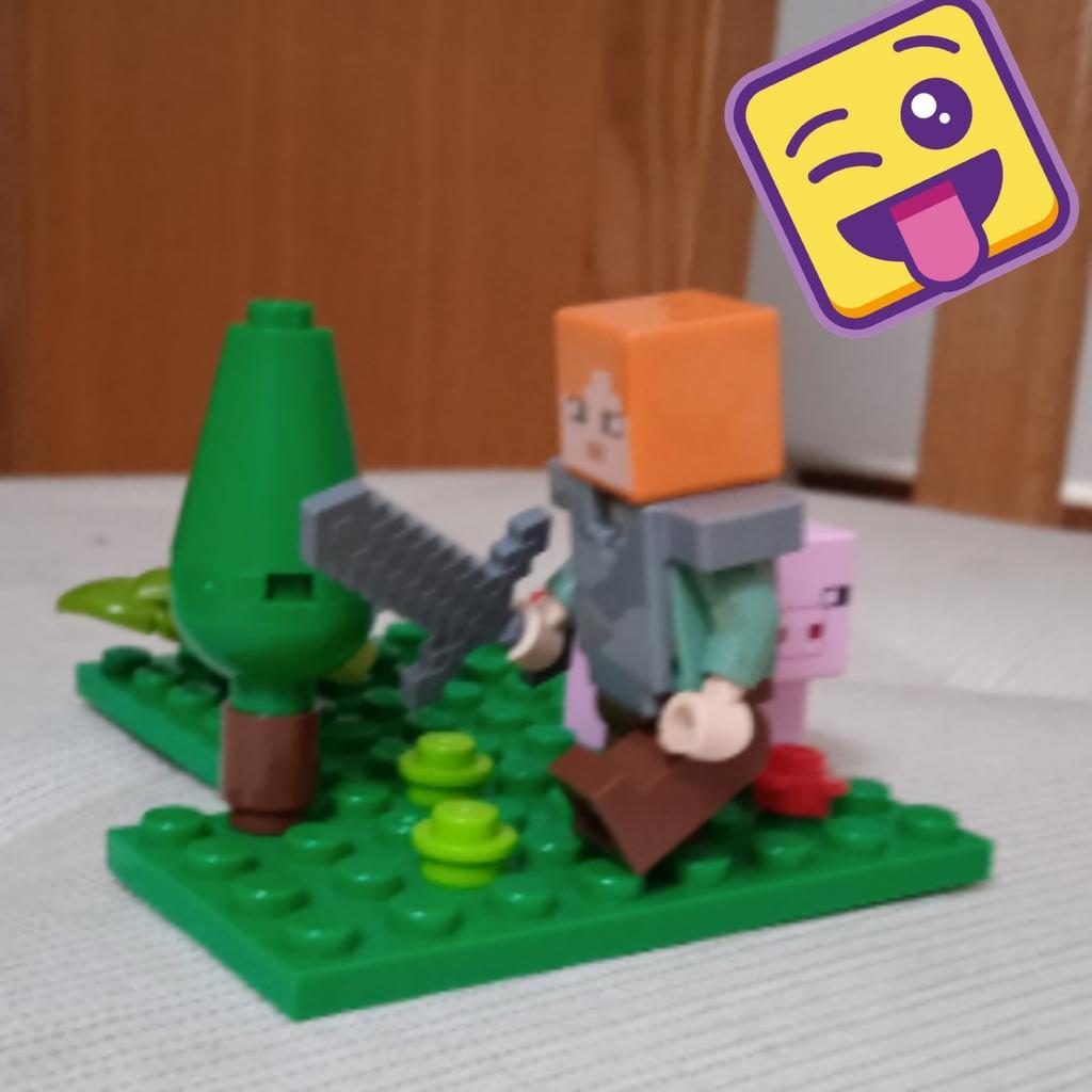 Alex cerca cibo nella foresta.