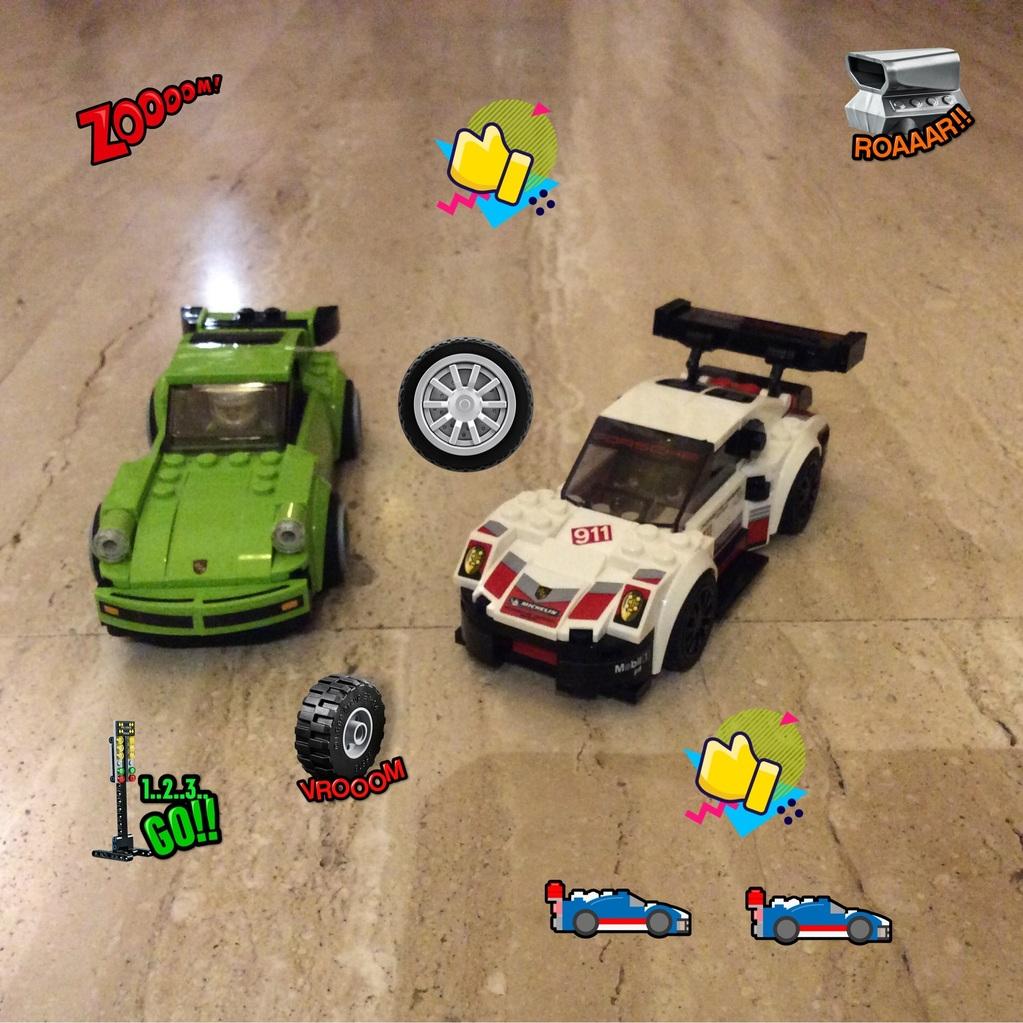 Unos coches de carreras