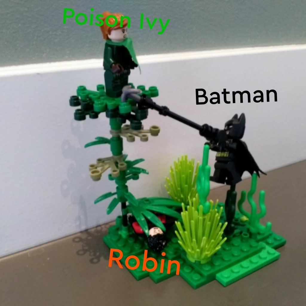Poison Ivy vs Batman en Robin