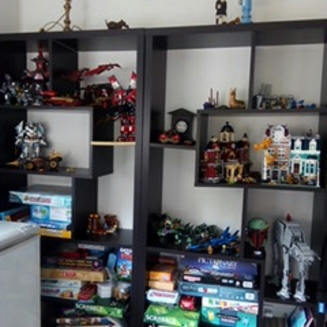 These are my shelves for lego