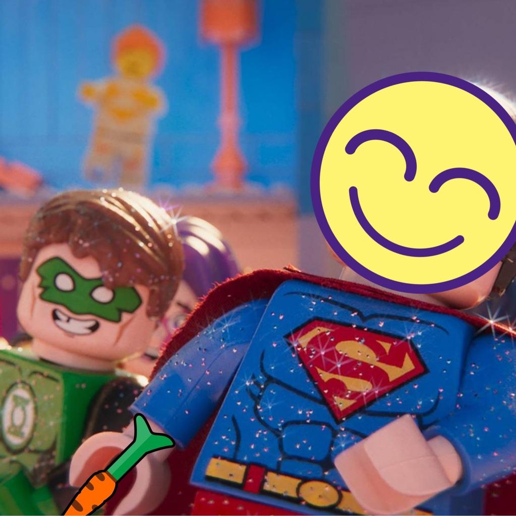 Superman súper feliz en una fiesta
