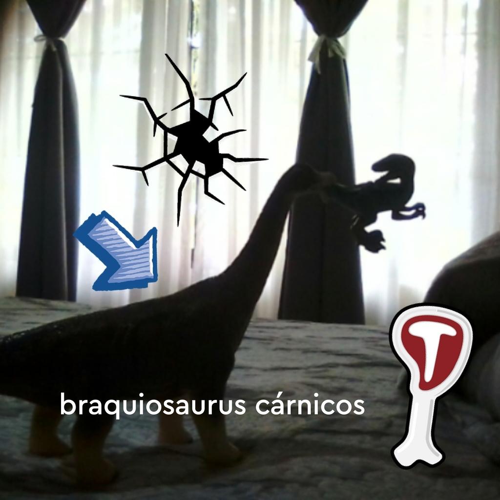 Este braquiosaurus es carnívoro