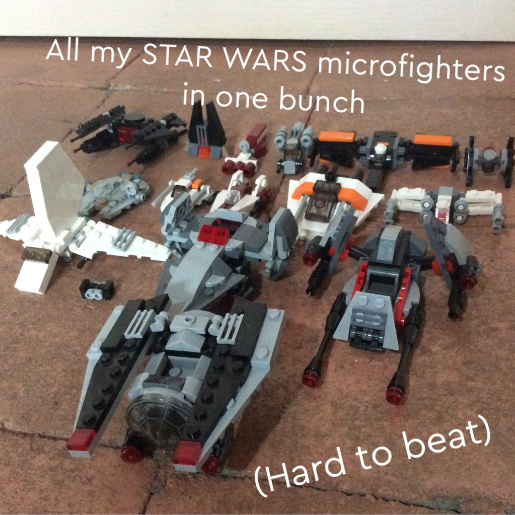 All my Microfighters (small and big)