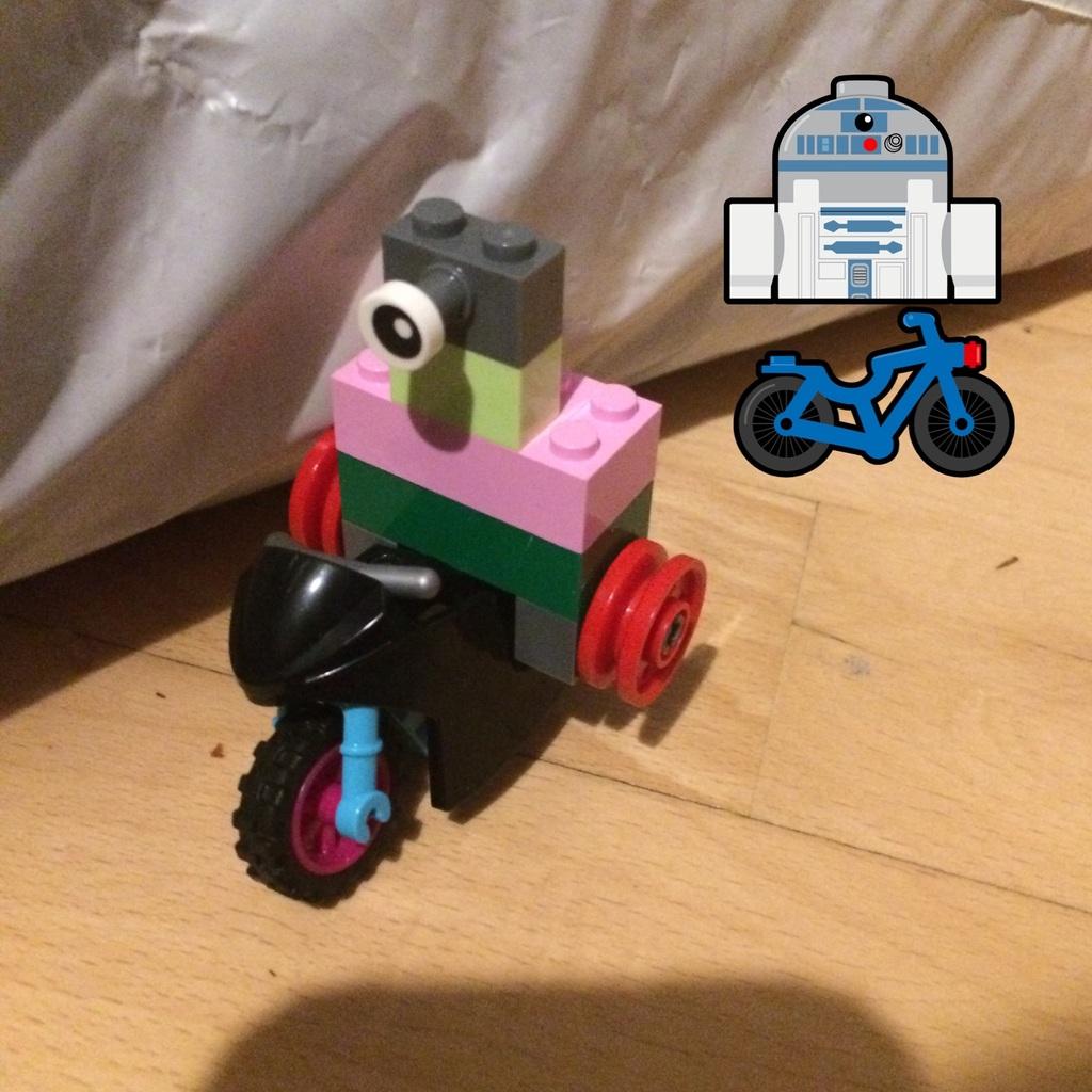 Robot der kører på motorcykel