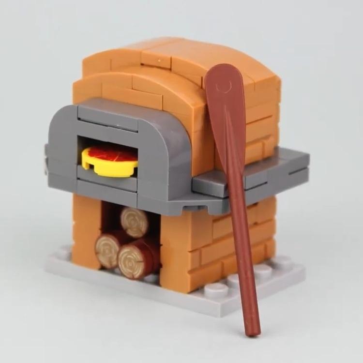 Pizza Ofen und Hotdog Stand