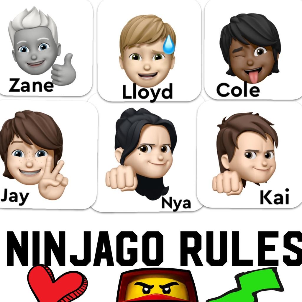 Ninjago characters as emojis!
