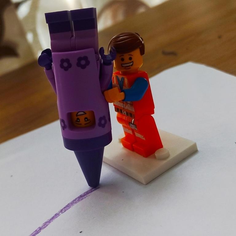 The purple crayon girl