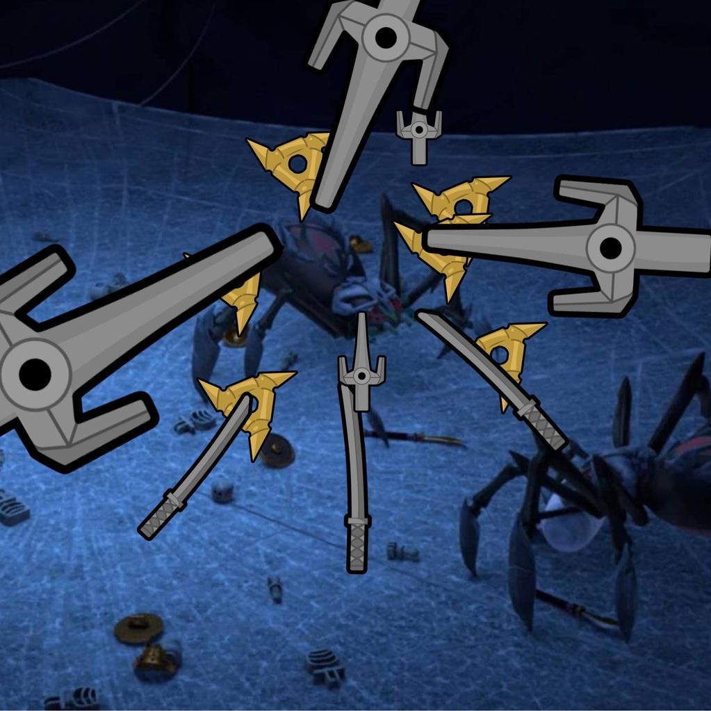 Edderkop i knibe