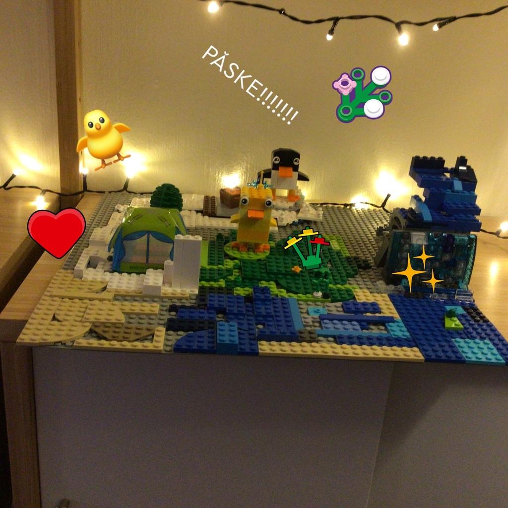 Jeg bygde en påskelandsby!!!