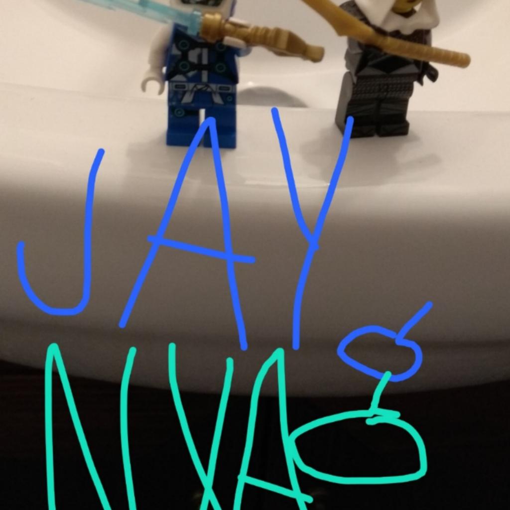 Jay, Nya, Cole, Lloyd, Jack a Batman